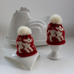 Pair Of Egg Cosies In Gift Box - egg cups & cosies