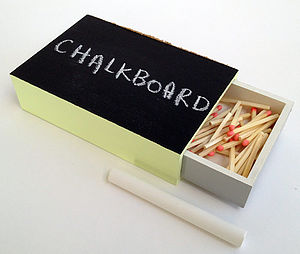 Chalkboard Matchbox - kitchen