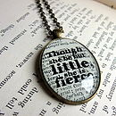 'She Be But Little' Shakespeare Quote Pendant