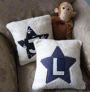 Personalised Boy's Star Cushion