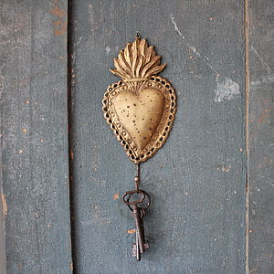 Antiqued Decorative Gold Hook