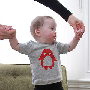 Jasper Penguin Short Sleeved Baby T Shirt - clothing