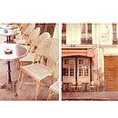 Paris Cafe Diptych Photographic Print