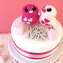 Love Bird Opposites Wedding Cake Topper