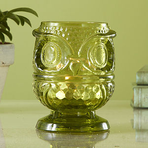 Owl Tealight Holder - table decorations