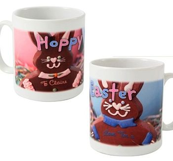 Personalised Hoppy Easter Bunnies Mug