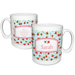 Personalised Vintage Style Floral Mug - view all mother's day gifts
