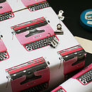 Typewriter Wrapping Paper Pack