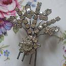 Vintage Diamante Floral Brooch