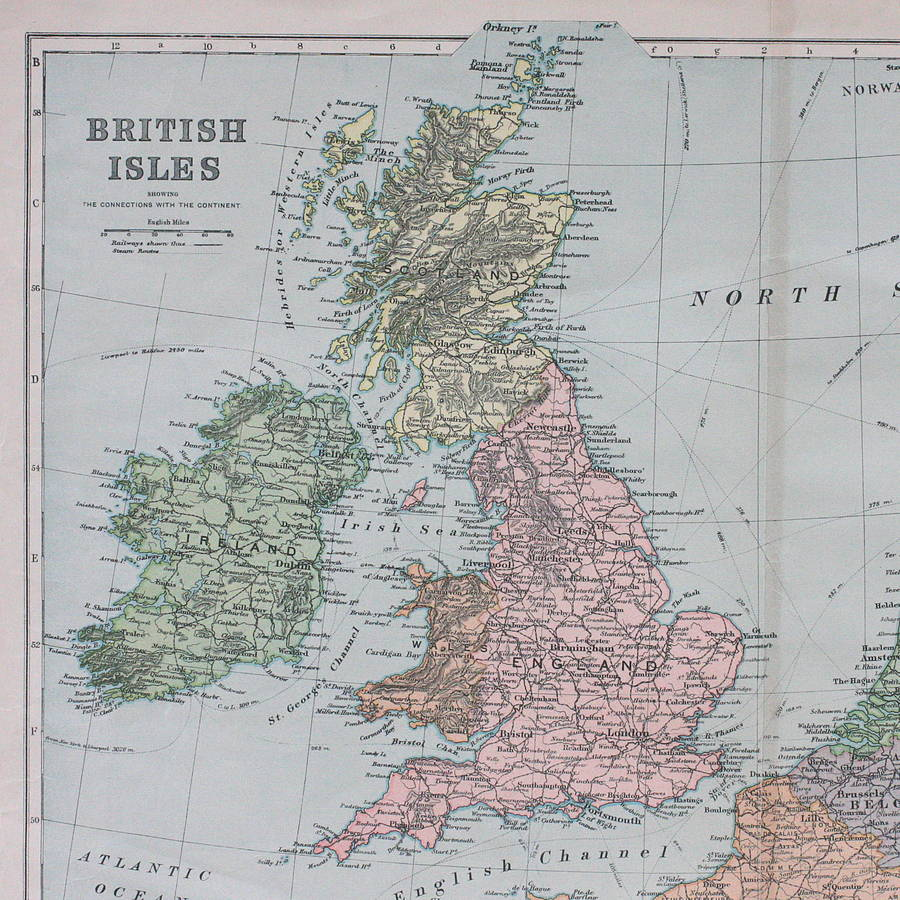 Vintage Map Of The British Isles