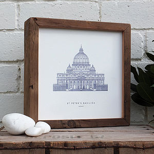 Framed Architectural Illustrative Print - contemporary art