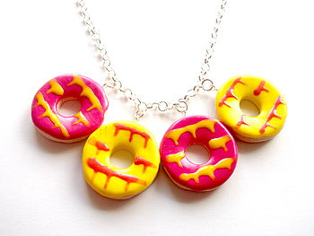 Multi Coloured Party Biscuit Necklace