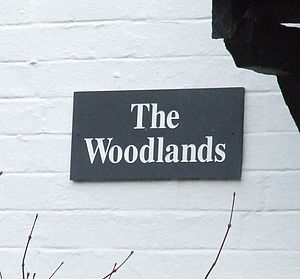 Personalised Slate House Sign - art & decorations