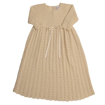 Cashmere Sunshine Christening Dress