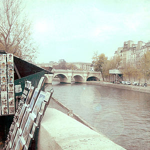 Autumn By The Seine Photographic Print - architecture & buildings