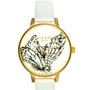 Gold Plated Animal Motif Oversize Watch