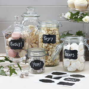 Reuseable Chalk Board Jar Labels - table decorations