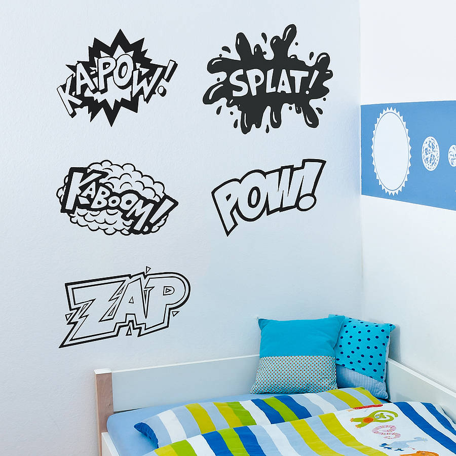 comic strip words vinyl wall stickers by oakdene designs 15 creative vinyl wall sticker ideas for all rooms