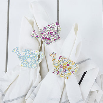 Set Of Two Watering Can Napkin Holders