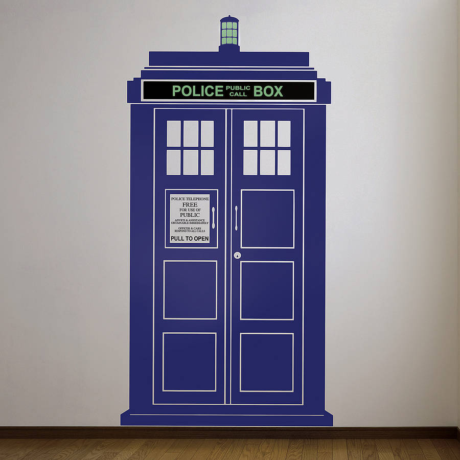 british policebox wall sticker by oakdene designs. Black Bedroom Furniture Sets. Home Design Ideas