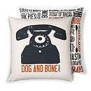 'Dog And Bone' Cockney Cushion