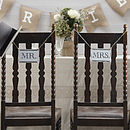 Vintage Style 'Mr And Mrs' Wedding Signs