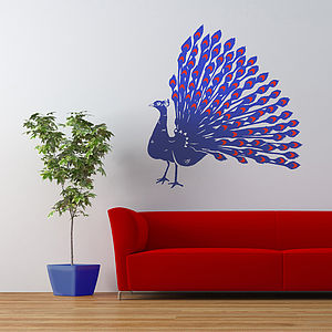 Peacock Vinyl Wall Sticker - wall stickers