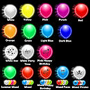 Pack Of Five Glow In The Dark Illoom Balloons