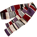 Handknitted Striped Scarf