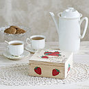 Personalised Tea Box 'Strawberries'