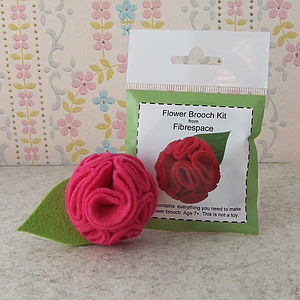Flower Brooch Mini Craft Kit - women's jewellery