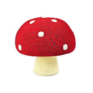 Child's Organic Cotton Toadstool Pouffe Pouf - children's room accessories