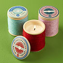 Ceramic Spool Scented Candle