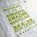 'Hooray For Mum' Tea Towel