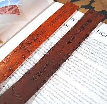 Personalised Textured Bookmarks