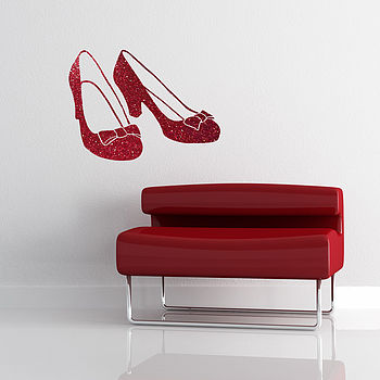 Ruby Slipper Vinyl Wall Sticker