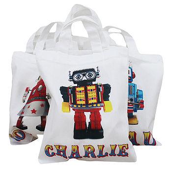 Personalised Range Of Tin Toy Party Bags