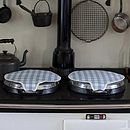 Magnetic Range Lid Covers   Old Blue Check