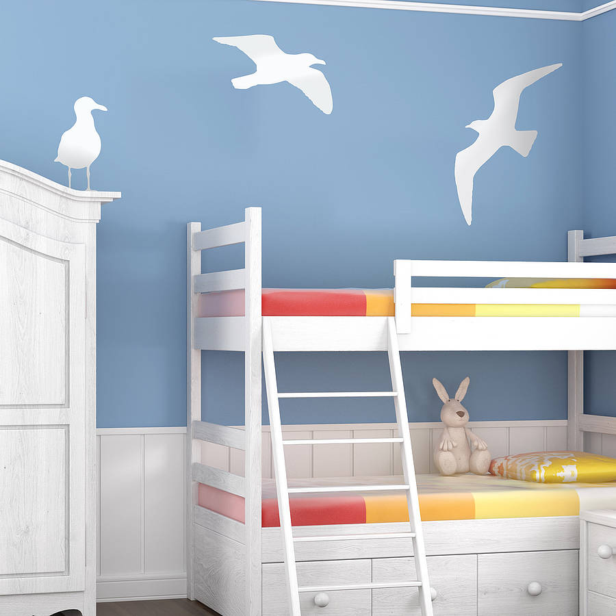 Seagull vinyl wall sticker by oakdene designs for Children s bathroom designs