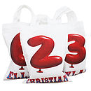 Personalised Number Party Bags