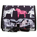 Patterned Ponies Weekender Wash Roll
