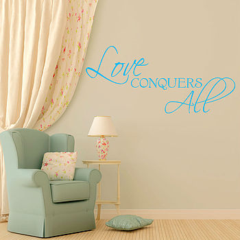 'Love Conquers All' Wall Sticker