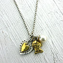 Silver And Gold Vermeil Charm Necklace