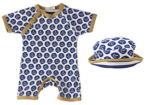 New Baby Anchor Short Romper And Sun Hat - bodysuits & all-in-ones