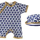 Baby Anchor Short Romper And Sun Hat