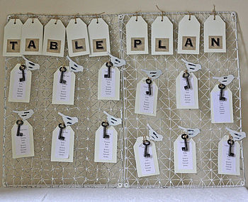 Distressed Wire Table Plan With Bird Pegs