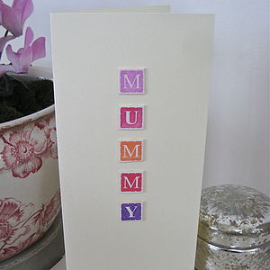 Personalised 'Mummy' Card - mother's day cards