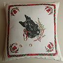 Vintage Souvenir Handkercheif Cushion
