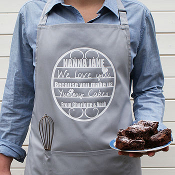 Personalised 'We Love You' Apron