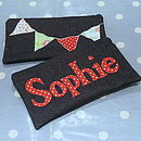 Personalised Red Bunting Pencil Case